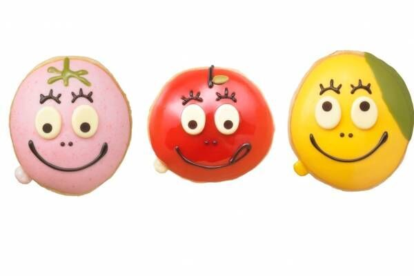 クリスピー・クリーム・ドーナツ×バーバパパ - キャラクターたちが苺やリンゴに変身