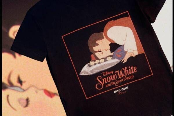 """ミュウミュウの""""キスシーン""""Tシャツ、映画『白雪姫』『風と共に去りぬ』など"""