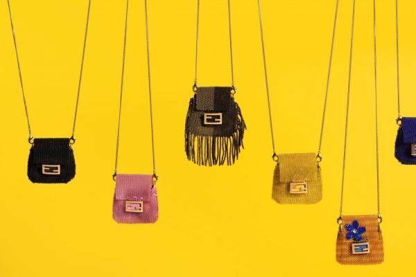 フェンディ史上最小バッグ「ピコ バゲット」新登場、4cm×4cmサイズ&FFロゴのバックル付き
