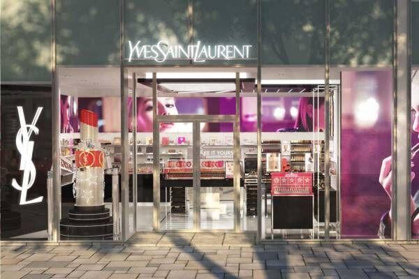 イヴ・サンローラン日本初の旗艦店が表参道ヒルズに、全コスメ集結&オリジナルパッケージの作成も