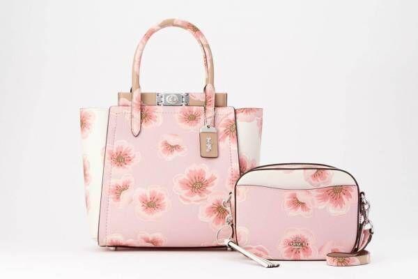 """コーチの「サクラ」バッグ&財布、""""ピンクグラデ""""カラーの桜プリントが日本限定で"""