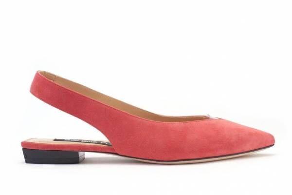 セルジオ ロッシのスリングバックシューズ「srミラノ フラット」新色、輝くシルバーや華やかピンク