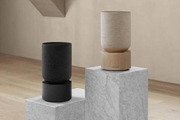 バング & オルフセンの新作スピーカー「べオサウンド バランス」インテリアと調和する円筒シルエット