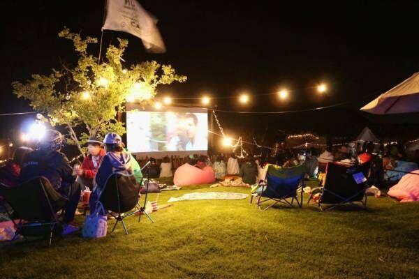 野外シネマキャンプフェス「MUJINTO cinema CAMP」和歌山の無人島で映画上映など