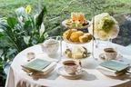 「メロンアフタヌーンティー」ホテル椿山荘東京で、メロンのムースや2色のフルーツサンドなど