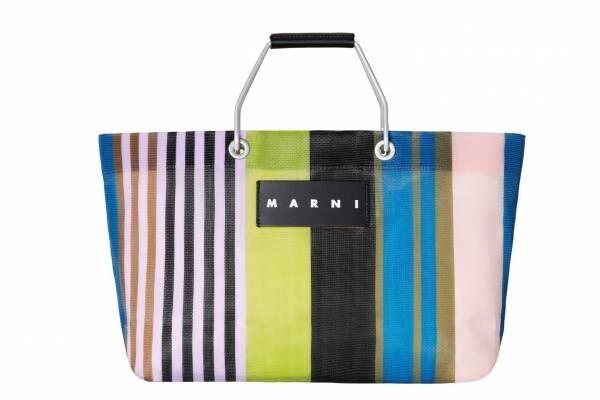 マルニマーケットに人気「ストライプバッグ」新色ナイトブルー&ミニサイズが登場