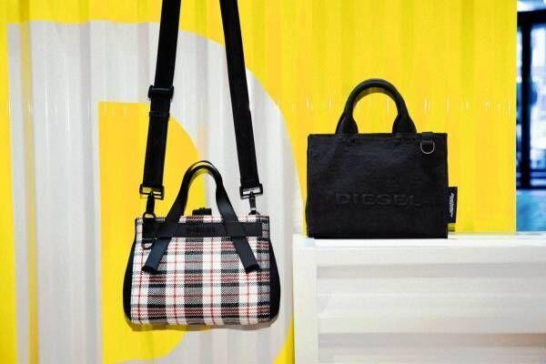 ディーゼルの新作ウィメンズトートバッグ、ショルダーストラップ付の2WAYで - リバーシブルモデルも