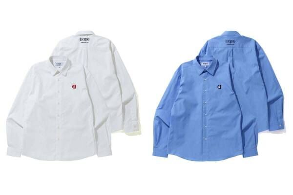 """ベイプのベーシックライン""""b""""コレクション新作、「英字ロゴ」のミニマルなユニセックスシャツなど"""