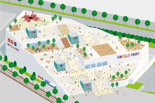 """ユニクロ&ジーユー、""""公園と一体化した""""併設大型店が横浜ベイサイドにオープン"""