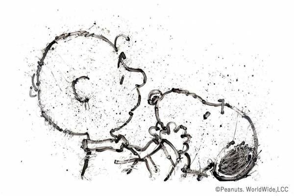 『ピーナッツ』スヌーピーのアート展示会、新宿で - トム・エバハートが描く版画など