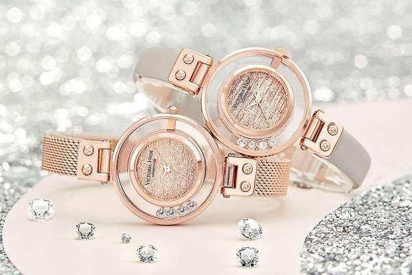 """ヴィクトリア・ハイド ロンドンの新作腕時計、大粒クリスタルが""""キラキラ""""揺れ動くデザイン"""