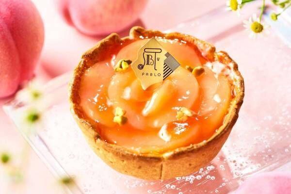 """パブロの""""白桃×ヨーグルト""""期間限定チーズタルト、甘くジューシーな白桃をふんだんに"""