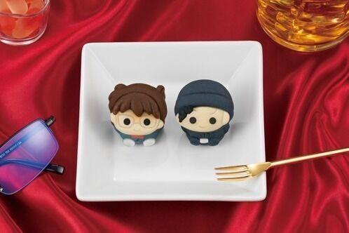 『名探偵コナン』のコナンと赤井秀一が和菓子に!カスタード味&チョコレート味の「食べマス」登場
