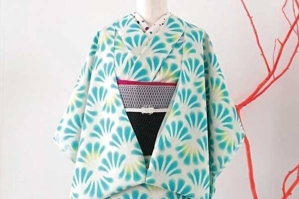 大塚呉服店の20年新作浴衣、コバルトブルーの貝殻柄「シェル」&ポップな花柄「ポピー」