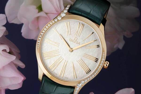 """オメガのレディース腕時計「トレゾア」にダイヤモンド煌めく新作、""""月光""""着想のゴールドケース"""