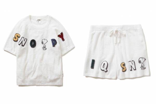 ジェラート ピケ×ピーナッツ、ポップなスヌーピー柄シャツパジャマやロゴ入りルームウェア