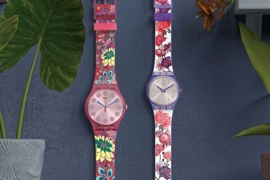 """スウォッチ""""レトロ&ポップ""""な草花を描いた腕時計「ラブリーガーデン コレクション」"""