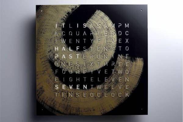 アルファベットで時刻を表示する時計「クロックツー」宮内庁御用達の漆器専門店が蒔絵を施した限定モデル