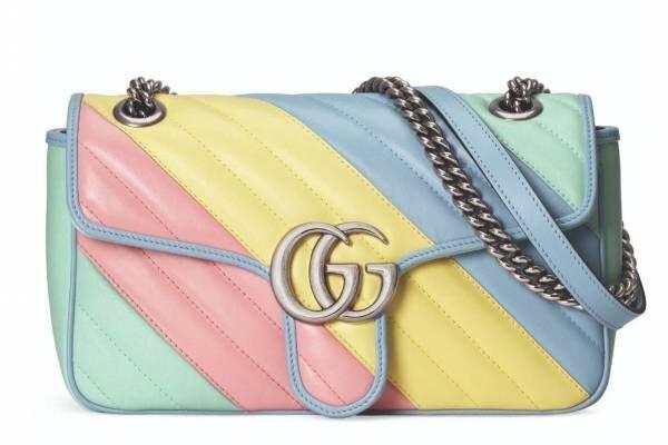 """グッチ「GGマーモント」""""パステルカラー""""の新作バッグ、ダブルGが輝くベビーピンクやライトブルー"""