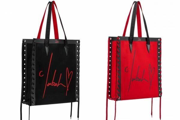 """クリスチャン ルブタン""""シューレース""""に見立てた装飾付きトート発売、ライトで発光するバッグも"""