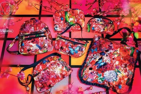 レスポートサック×蜷川実花のM / mika ninagawa、和傘や桜グラフィックのバッグ&ポーチ