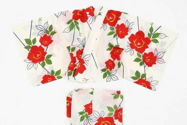 """やまと""""誰でも簡単に""""着られる新作浴衣「ゆかたゼロ」椿の花&雪の結晶柄など"""