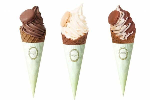 """ラデュレの新スタイル店舗が御殿場プレミアム・アウトレットに、""""マカロンの帽子付き""""ソフトクリームなど"""