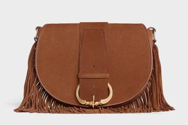 セリーヌの新作バッグ「カマラ」オーバーサイズのベルトを配したフラップ、札幌大丸の新店で先行販売