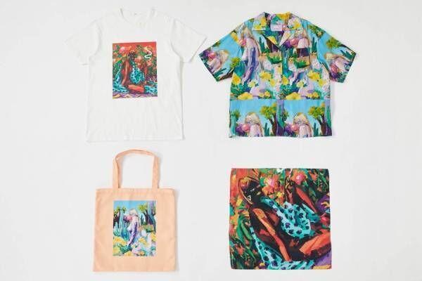 SLY×小澤雅志のアートプリントウェア、カラフルなグラフィック総柄シャツやオーバーサイズT