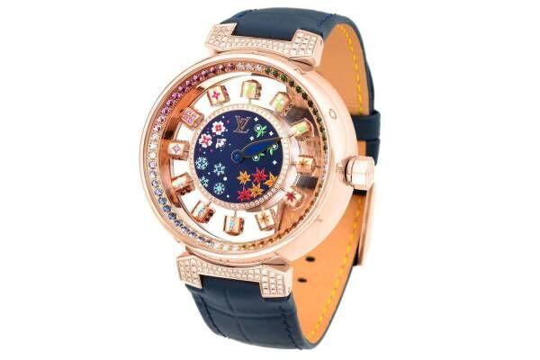 """ルイ・ヴィトン """"回転キューブが時を示す""""腕時計に限定モデル、日本の伝統模様&四季から着想"""