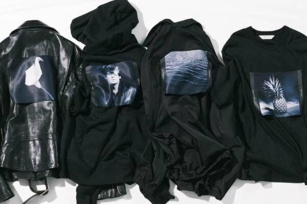 ビューティフルピープル、ロバート・メイプルソープの写真を配したオールブラックのTシャツやパーカー
