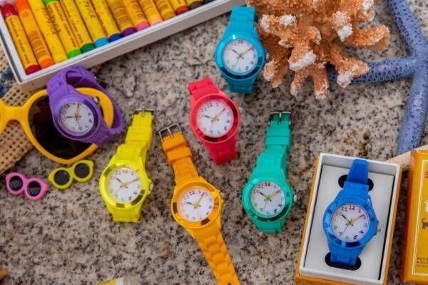 「サクラクレパス」腕時計からビビッドカラーの新作7色、クレパス型針&カラフルインデックス