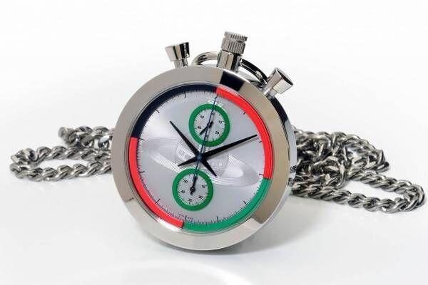 """ヴィヴィアン・ウエストウッド新作""""ペンダント型""""時計「ストップウォッチ」中心にオーブを刻印"""