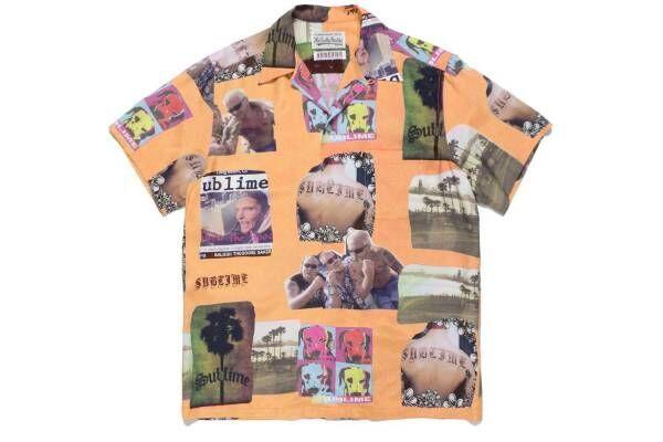 ワコマリア×サブライムのハワイアンシャツ、ジャケット写真&アートワークのコラージュプリント