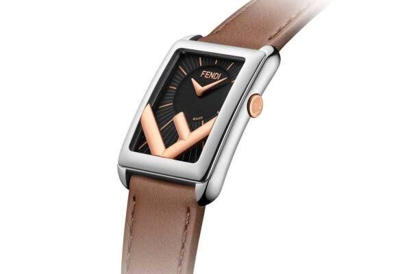 """フェンディのウィメンズ腕時計「ラナウェイ レクタングル」逆さま""""F""""ロゴ×長方形ケースの新作"""