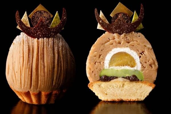 ホテルニューオータニ「スーパーモンブラン」船橋屋とコラボ、厳選和栗×宇治抹茶のくず餅