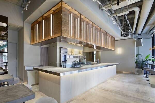渋谷ミヤシタパーク「or」カフェ×ギャラリー×ミュージックバーの一体型施設、シャンパン自販機も