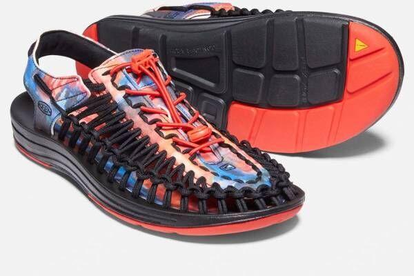 キーン×ジェリー・ガルシアのスニーカー「ユニーク」など、色鮮やかなアートワークをプリント