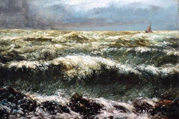 """展覧会「クールベと海」山梨県立美術館で、クールベやモネが描く""""海""""の絵画など約70点"""