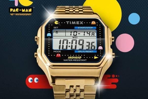 タイメックス×パックマンのコラボ腕時計、各種パックマンモチーフやゲーム音アラーム