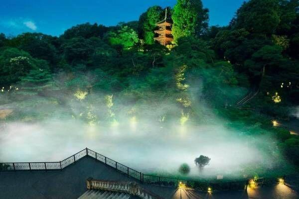 ホテル椿山荘東京で「東京雲海」庭園内に雲海が出現、霧に包まれながらの特別な庭園散策も