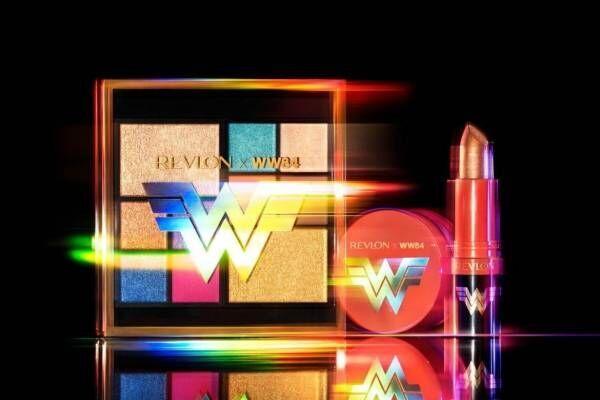レブロン×映画『ワンダーウーマン 1984』ゴールドロゴを配したカラフル10色アイパレット