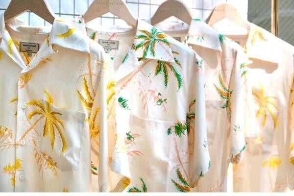 メゾン キツネの新作アロハシャツ、ヴィンテージ感漂うパームツリー柄 - コナベイハワイとコラボ