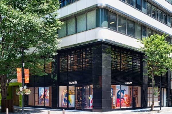 """エルメス丸の内店リニューアル""""緑と和""""を感じる空間へ、西陣織など日本の伝統技術光るインテリア"""