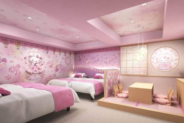浅草東武ホテルに「ハローキティルーム」誕生 - 桜天女と和モダン、異なる2タイプの客室