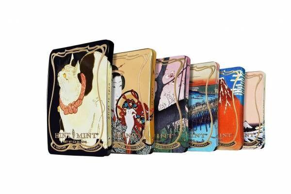 浮世絵デザインのミントタブレット「ヒントミント」葛飾北斎・歌川広重・歌川国芳の浮世絵がモチーフ