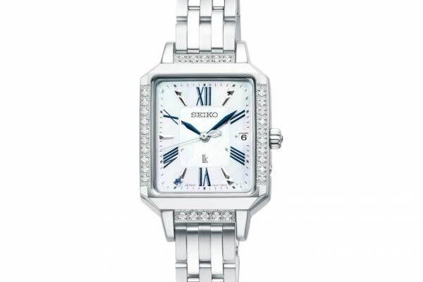 セイコー ルキア新作腕時計、ブルーサファイア&30石のダイヤモンド煌めく白蝶貝ダイヤル