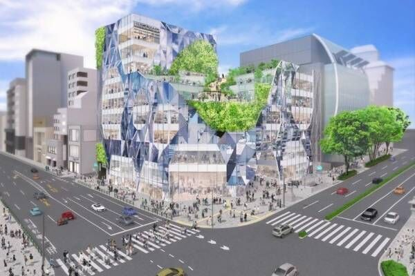 表参道・明治通りの神宮前交差点に新施設、神宮前六丁目地区第一種市街地再開発事業で2022年度竣工