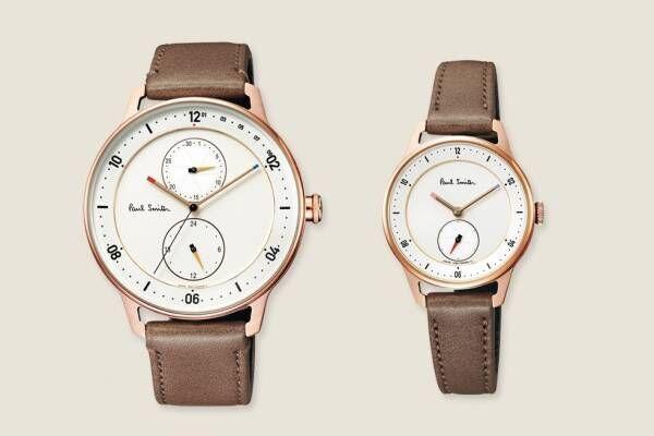 """ポール・スミスの腕時計「チャーチストリート」""""ローズゴールドケース""""のペアモデル、チックタック別注で"""
