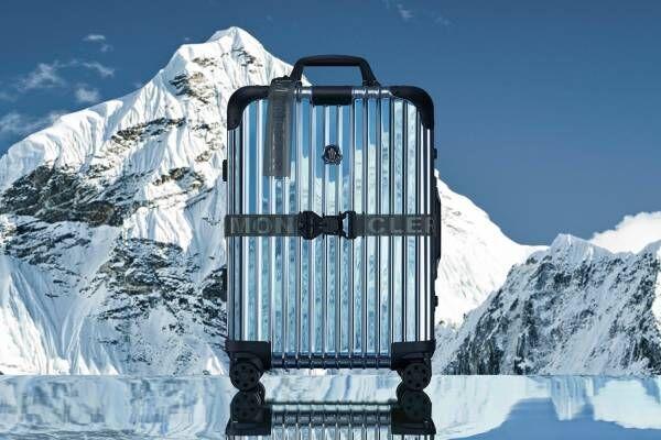 """モンクレール ジーニアス×リモワの""""鏡面仕上げ""""スーツケース、ナイロン製の収納セット付き"""